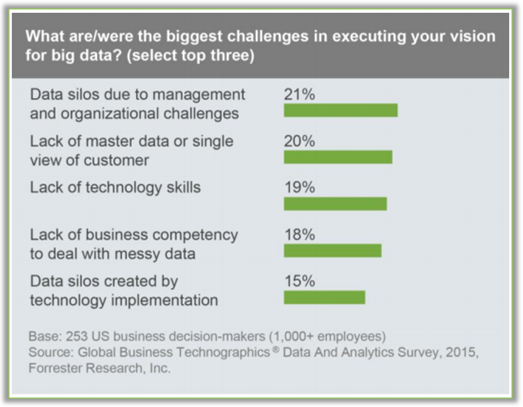What are the biggest challenges in executing your vision for big data?
