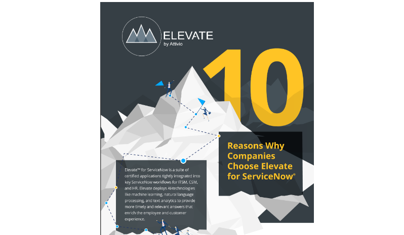 10 reasons why companies choose Elevate for ServiceNow
