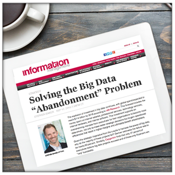 Solving the Big Data Abandonment Problem, Information Management
